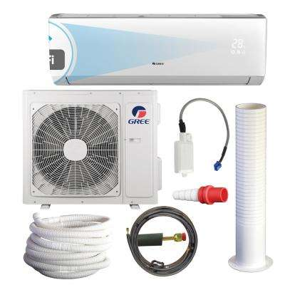 LIVO 12,000 BTU 1 Ton Wi-Fi Programmable Ductless Mini Split Air Conditioner with Heat Kit - 230-208V/60Hz