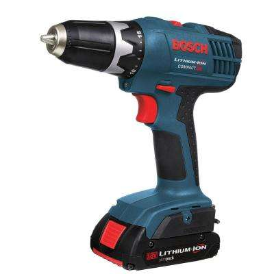 Factory Reconditioned Lithium-Ion Cordless 3/8 in. Compact Drill/Driver Kit with LED Light