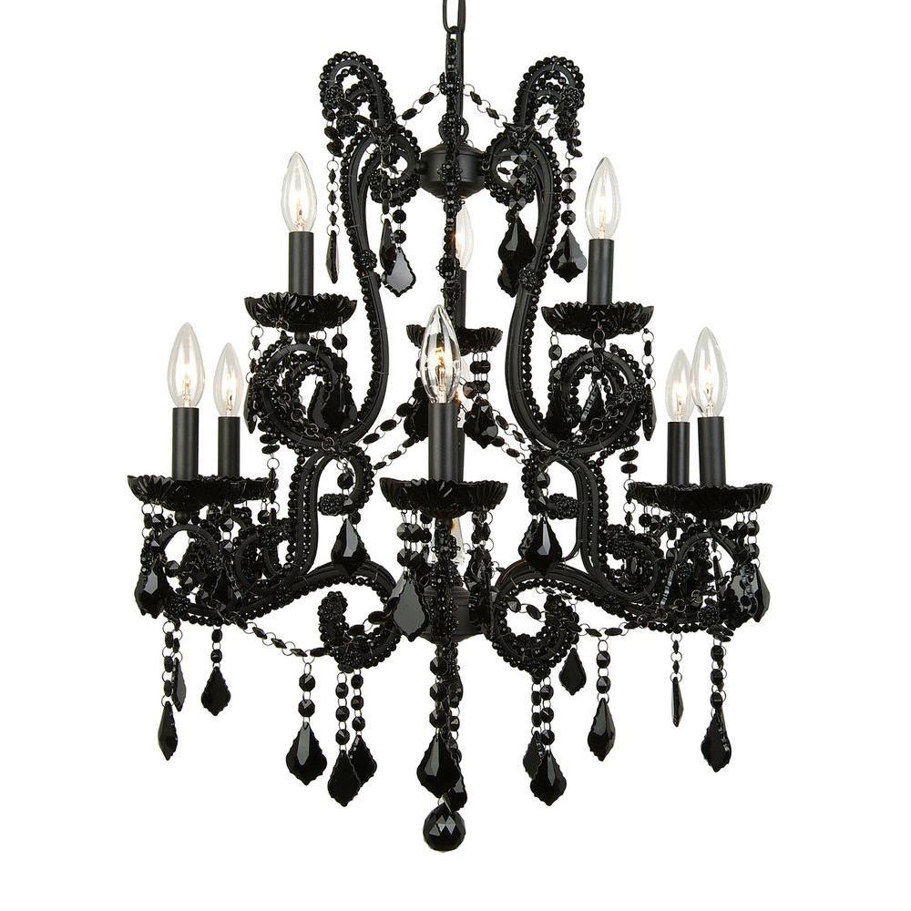Filament Design Xavier 9-Light Black Chandelier
