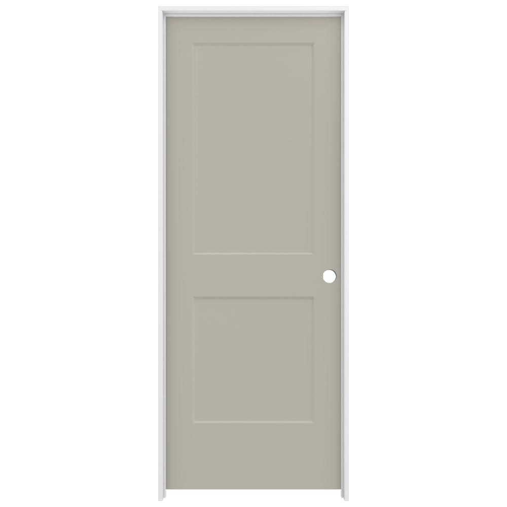 32 in. x 80 in. Monroe Desert Sand Left-Hand Smooth Solid Core Molded Composite MDF Single Prehung Interior Door