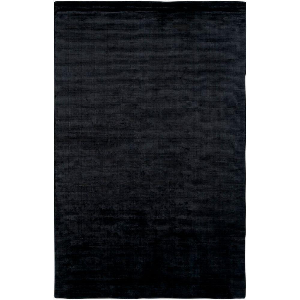 LR Resources Satori Black 9 ft. x 12 ft. 9 in. Plush Indoor Area Rug
