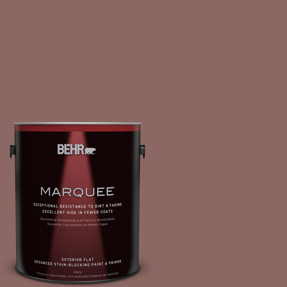 BEHR MARQUEE 1-gal. #700B-5 Red Stone Flat Exterior Paint