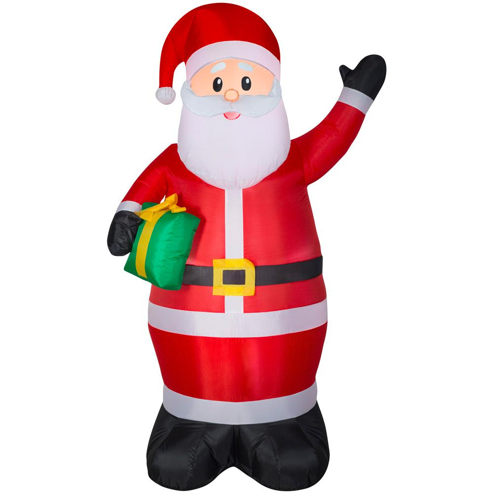 Home Accents Holiday 6.50 ft. Pre-Lit Inflatable Santa Airblown