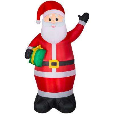 Lowes Christmas Inflatables.6 50 Ft Pre Lit Life Size Airblown Inflatable Santa