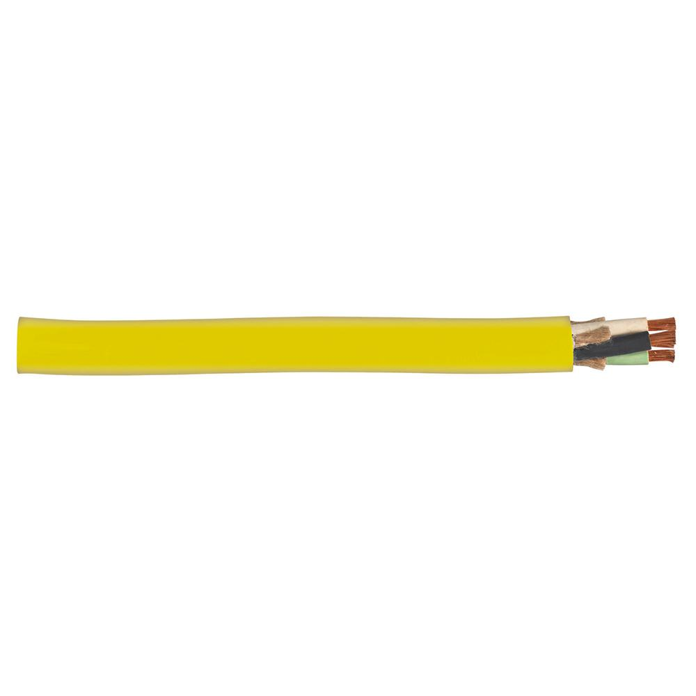 250 ft. 12/4 600-Volt Portable Power Yellow SOOW Cord
