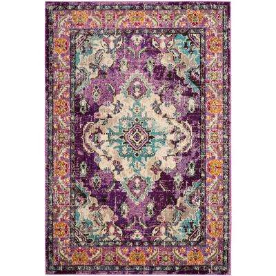 Monaco Violet/Light Blue 5 ft. x 8 ft. Area Rug
