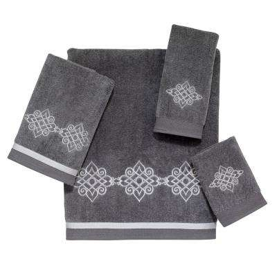 Riverview 4-Piece Bath Towel Set in Nickel