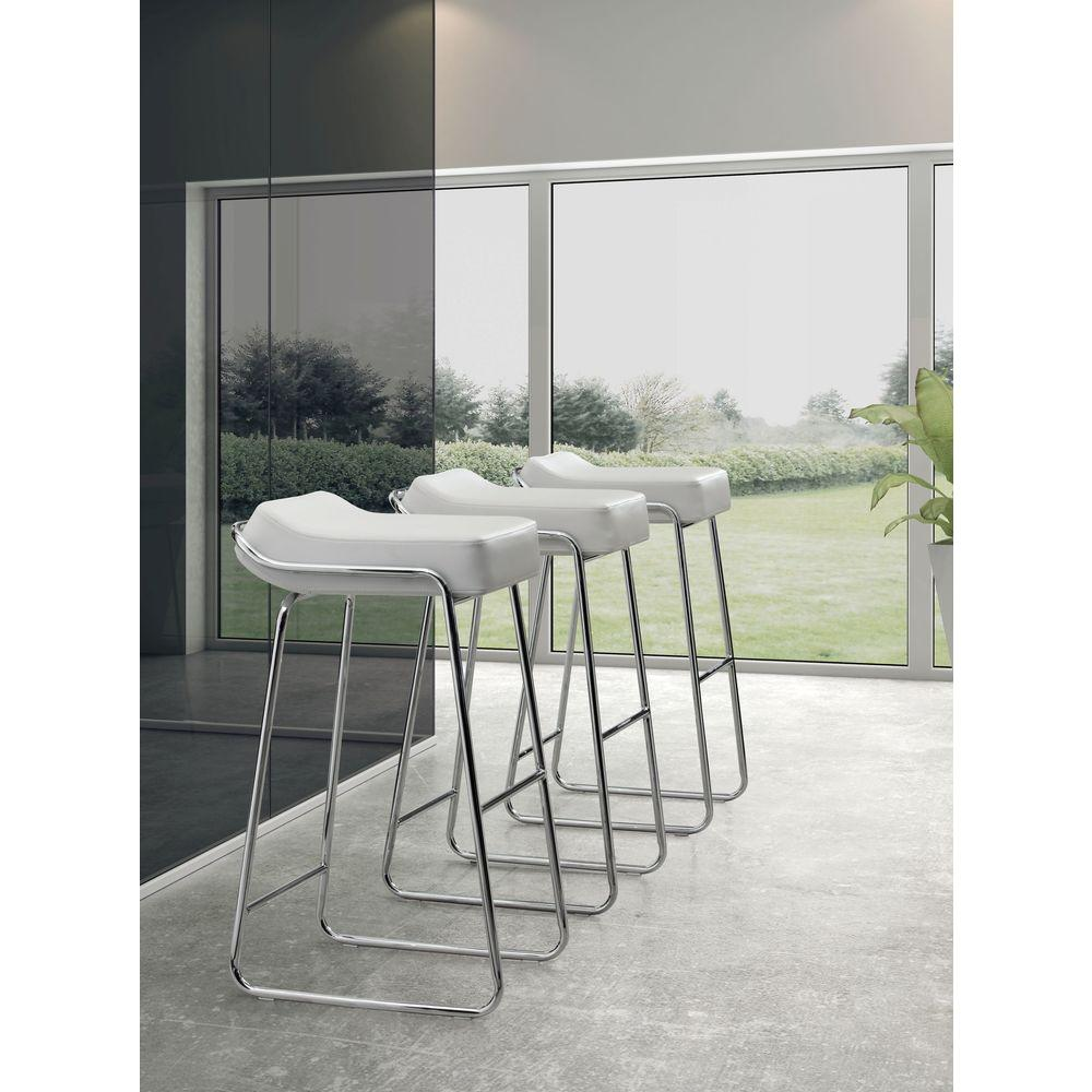 zuo wedge  in chrome cushioned bar stool (set of ). zuo wedge  in chrome cushioned bar stool (set of )
