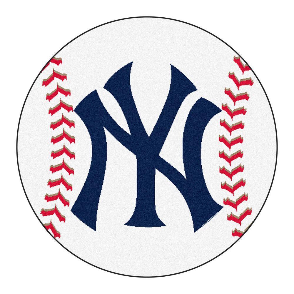 Fanmats Mlb New York Yankees White 2 Ft 3 In X 2 Ft 3