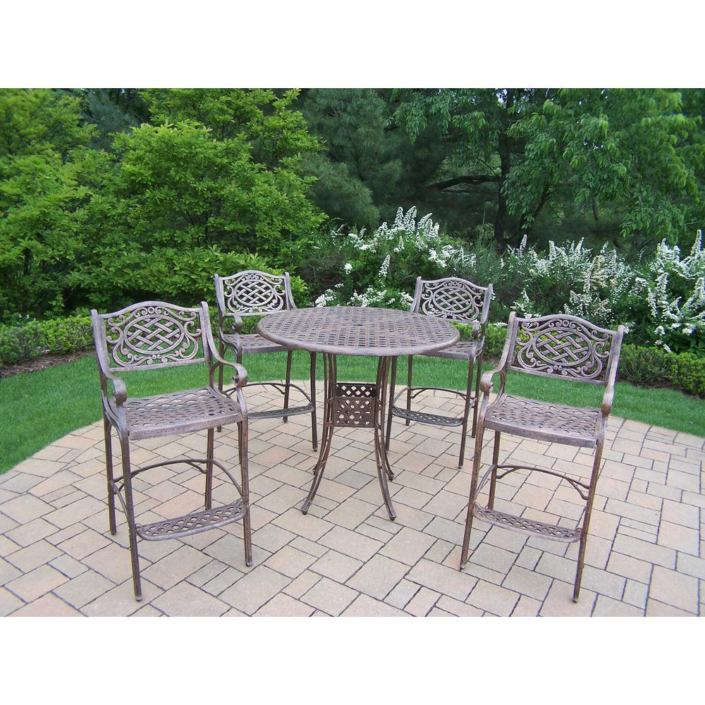 Elite Mississippi 5-Piece Aluminum Outdoor Bar Height Dining Set