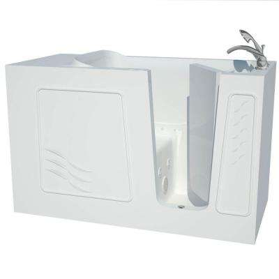 Contractor Series 5 ft. Right Drain Whirlpool and Air Walk-In Bathtub in White