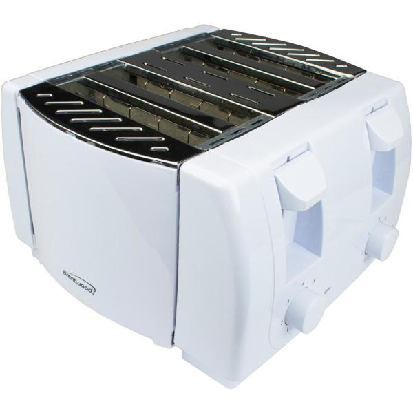 4-Slice White Toaster with Cool-Touch Exterior