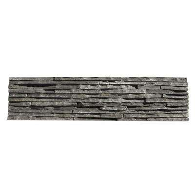 Portico Slate Alcazar 6 in. x 23-1/2 in. x 19.05 mm Gray Natural Stone Wall Tile (5.88 sq. ft. / case)