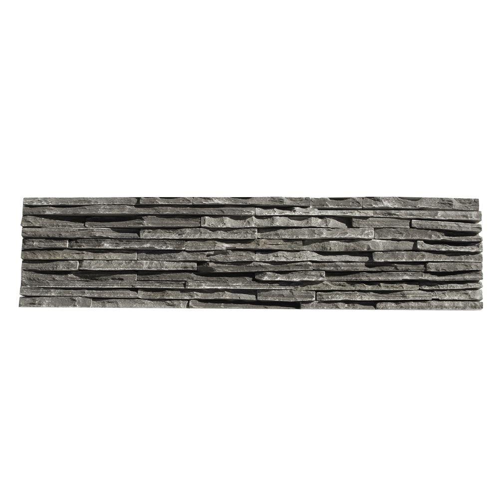 Solistone Portico Slate Alcazar 6 in. x 23-1/2 in. x 19.05 mm Gray ...