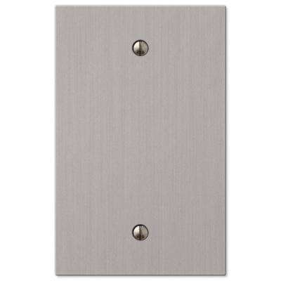 Barnard 1 Gang Blank Metal Wall Plate - Brushed Nickel
