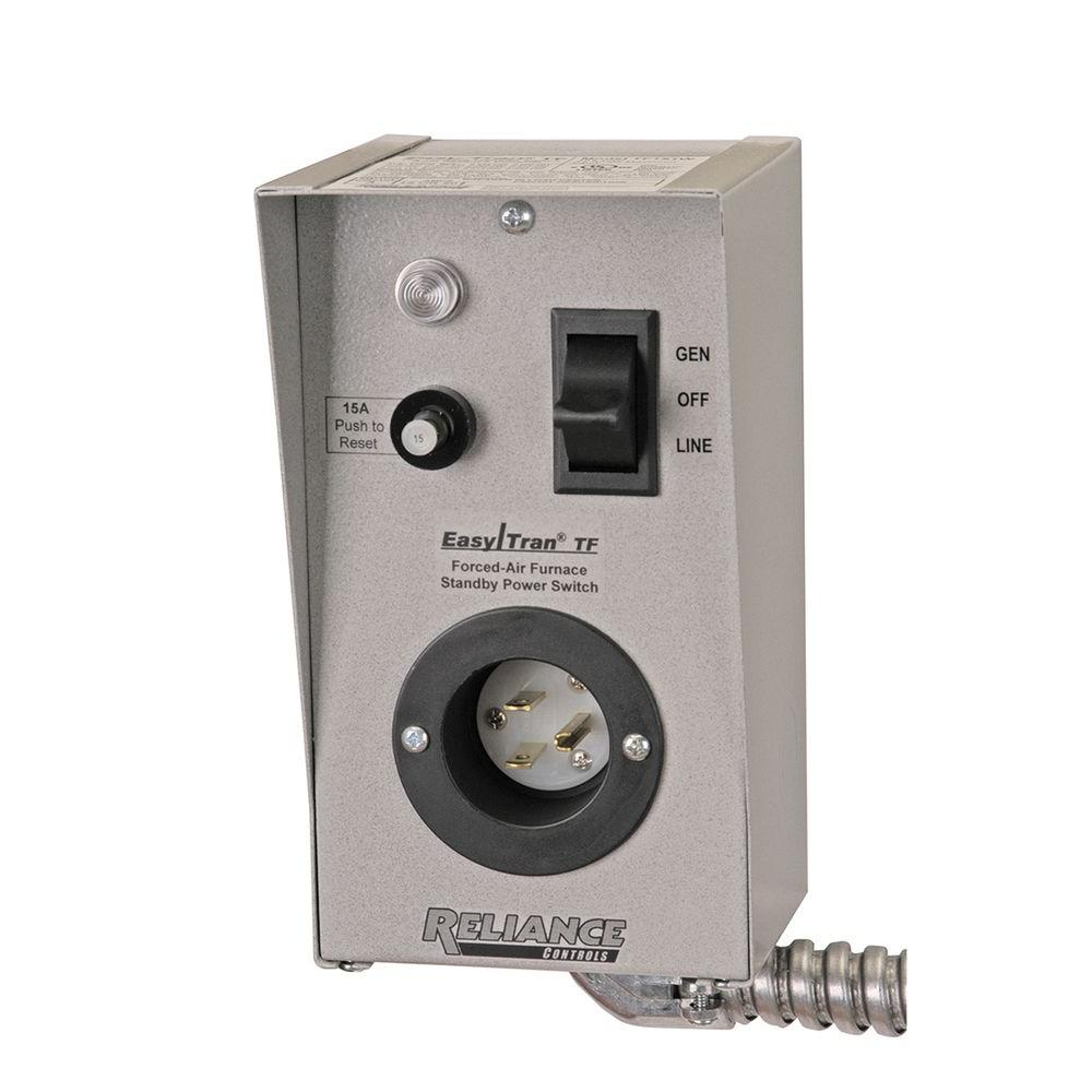 transfer switches generator accessories the home depot rh homedepot com Generator Transfer Switch Kit Wiring a Reliance Transfer Switch