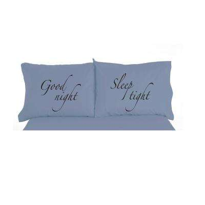 Good Night Sleep Tight Novelty Print Pillowcase Pair