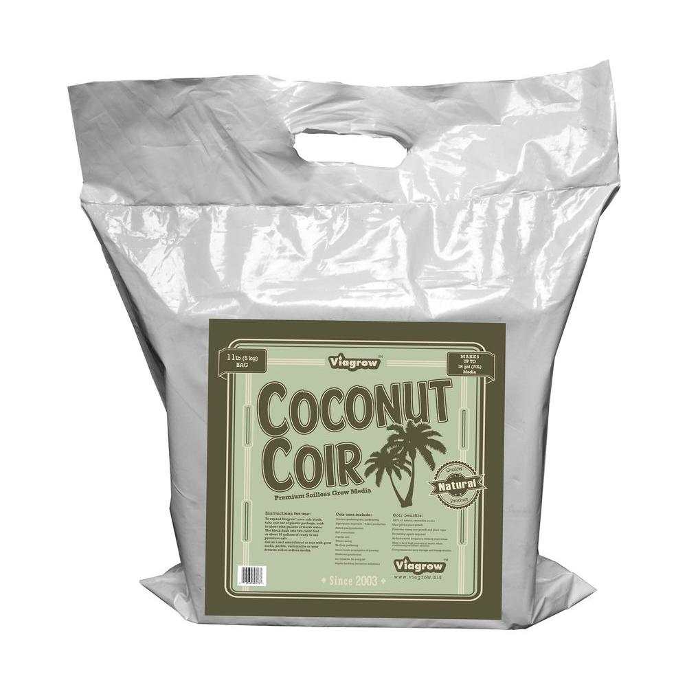 Viagrow 11 lb. Coconut Coir Block Soilless Grow Media (2-...