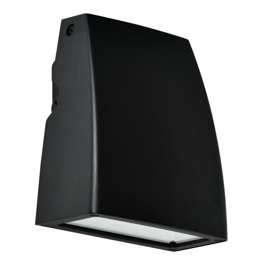 35-Watt Black Outdoor Integrated LED Adjustable Wall Pack Light