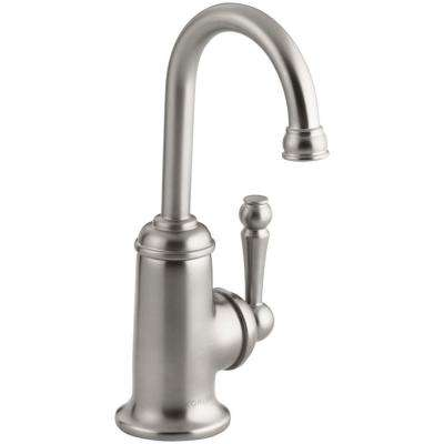 Wellspring Single Handle Bar Faucet with Traditional Design in Vibrant Stainless Steel