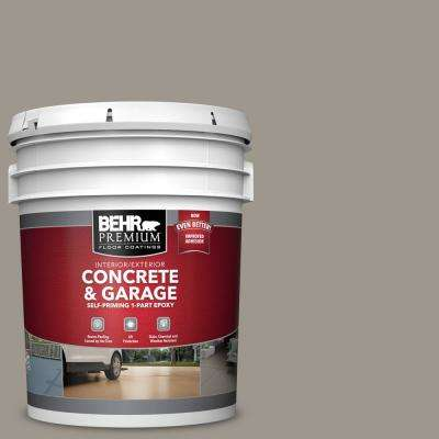 5 gal. #PFC-73 Pebbled Path 1-Part Epoxy Satin Interior/Exterior Concrete and Garage Floor Paint