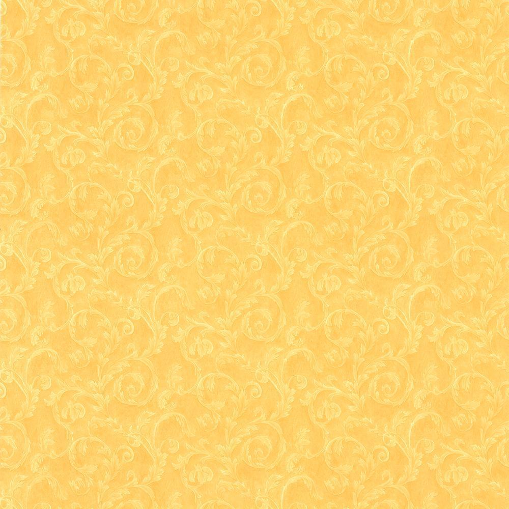 Lilian Mustard Scroll Wallpaper 414 59384 The Home Depot