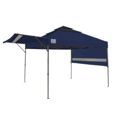 SX170 10 ft. x 10 ft. Blue/Graphite Instant Canopy with Dual Half Awnings