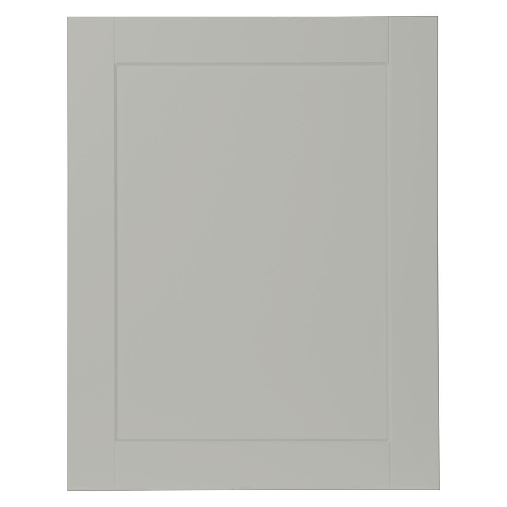 0.65x29.37x23.06 in. Shaker Base Cabinet Decorative End Panel in Dove Gray