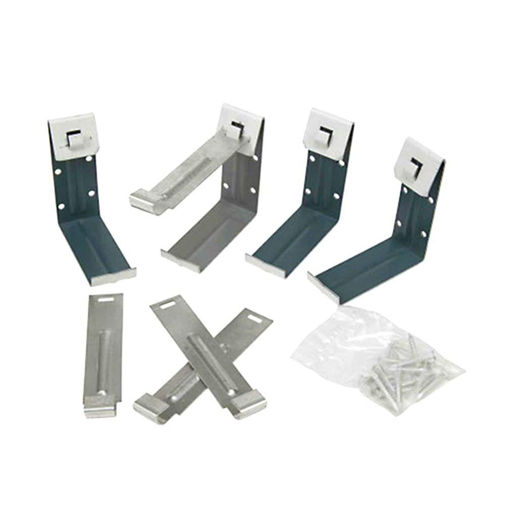 5 in. White Steel K-Style Gutter Fascia Bracket (4-Pack)