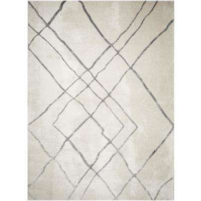 Bazaar Silver Strike Beige 7 ft. 10 in. x 10 ft. 2 in. Indoor Area Rug