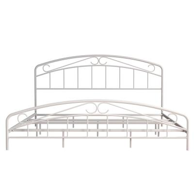 Jolie White King Arched Scroll Bed