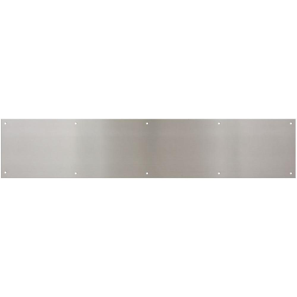 6 in. x 30 in. Satin Nickel Kick Plate