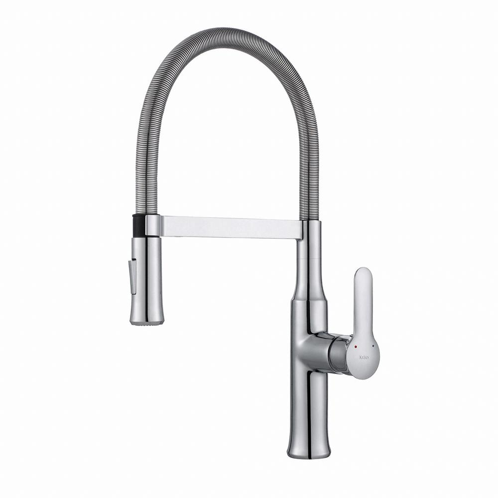 kraus nola flex single-handle commercial style kitchen faucet with