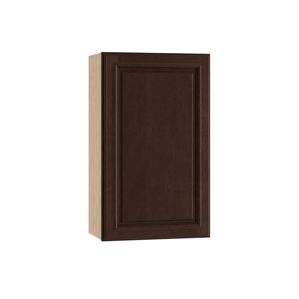 Home Decorators Collection Somerset Assembled 18x30x12 in. Single Door Hinge Right Wall Kitchen Cabinet in Manganite