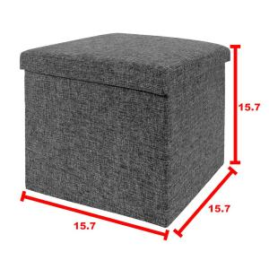 Pleasant Seville Classics Foldable Storage Cube Ottoman Charcoal Gmtry Best Dining Table And Chair Ideas Images Gmtryco