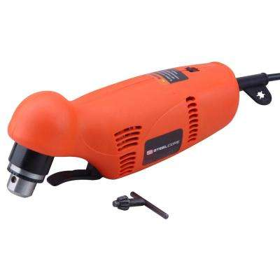 3.8 Amp Corded 3/8 in. Electric Power Drill with Variable Reversible Close Quarters Angle