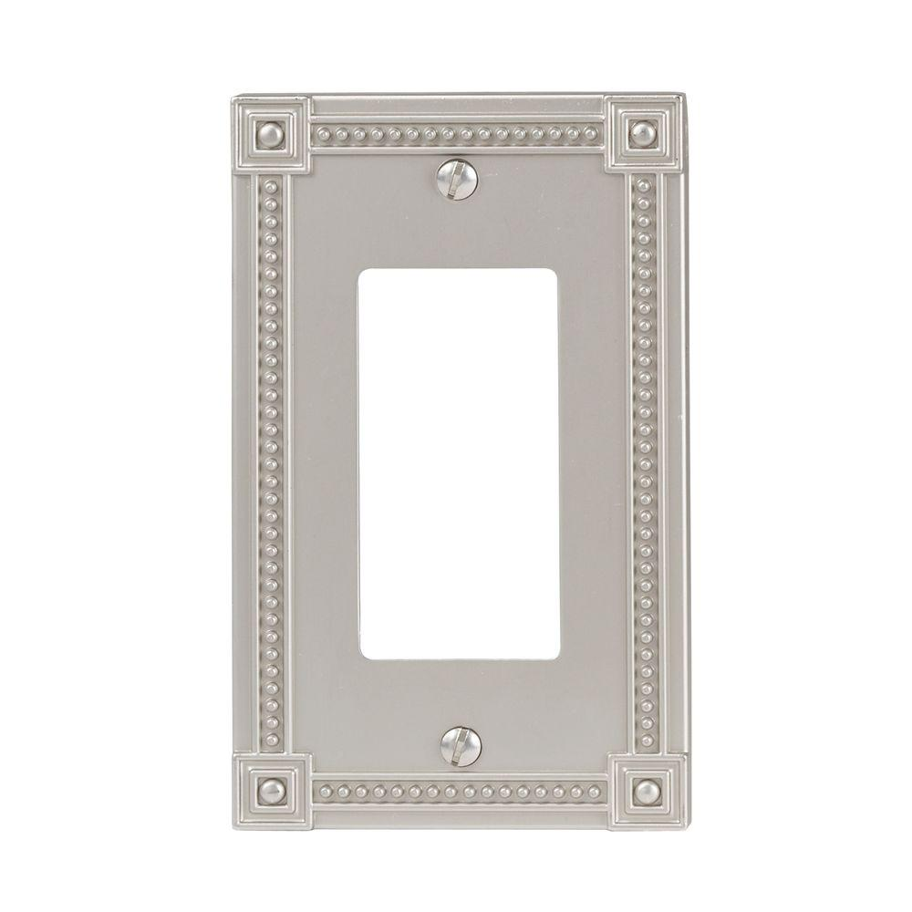 Amerelle Traditional 1 Decora Wall Plate - Satin Nickel