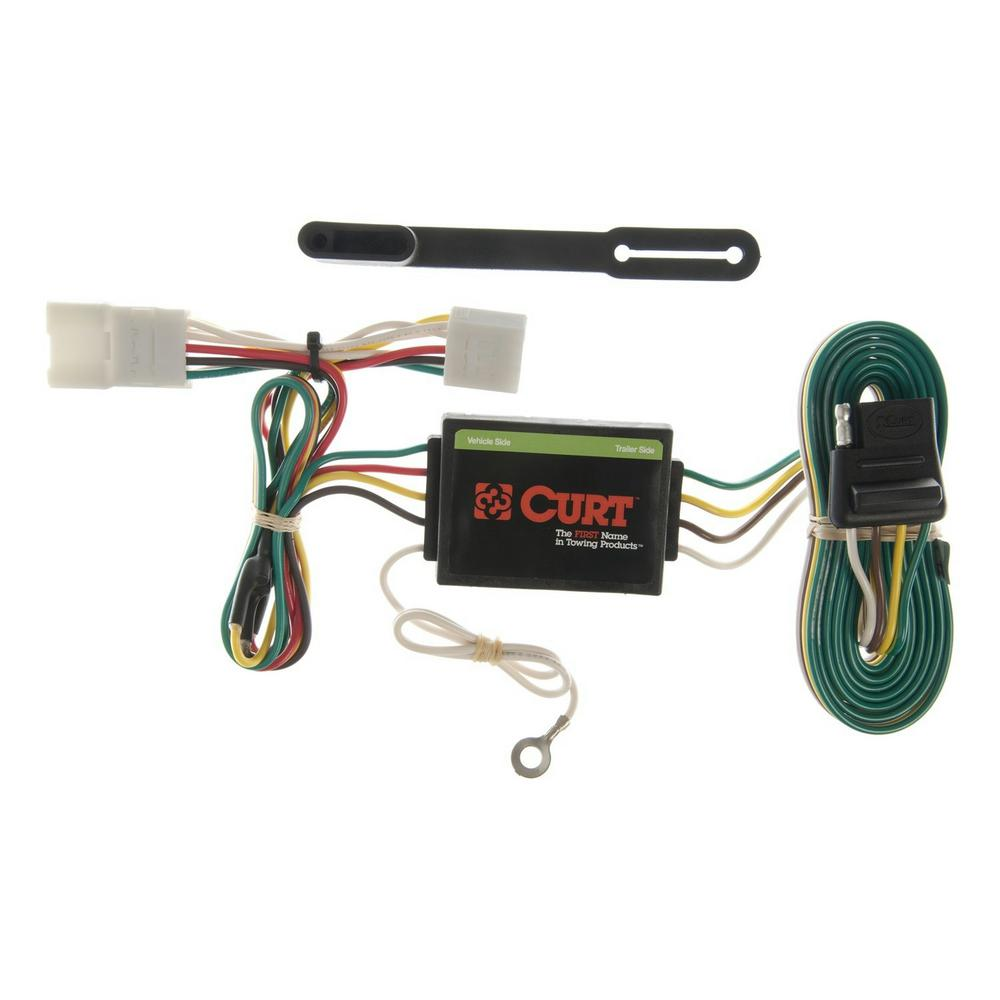 CURT Vehicle-Side Custom Vehicle Trailer Wiring Harness for Towing on ford fiesta trailer hitch light harness, 4 pin trailer wiring connectors, 4 pin trailer controller, 13 f250 7 pin wire harness, 4 pin cable, 4 pin trailer wiring problems, 4 pin to 7 pin trailer wiring,