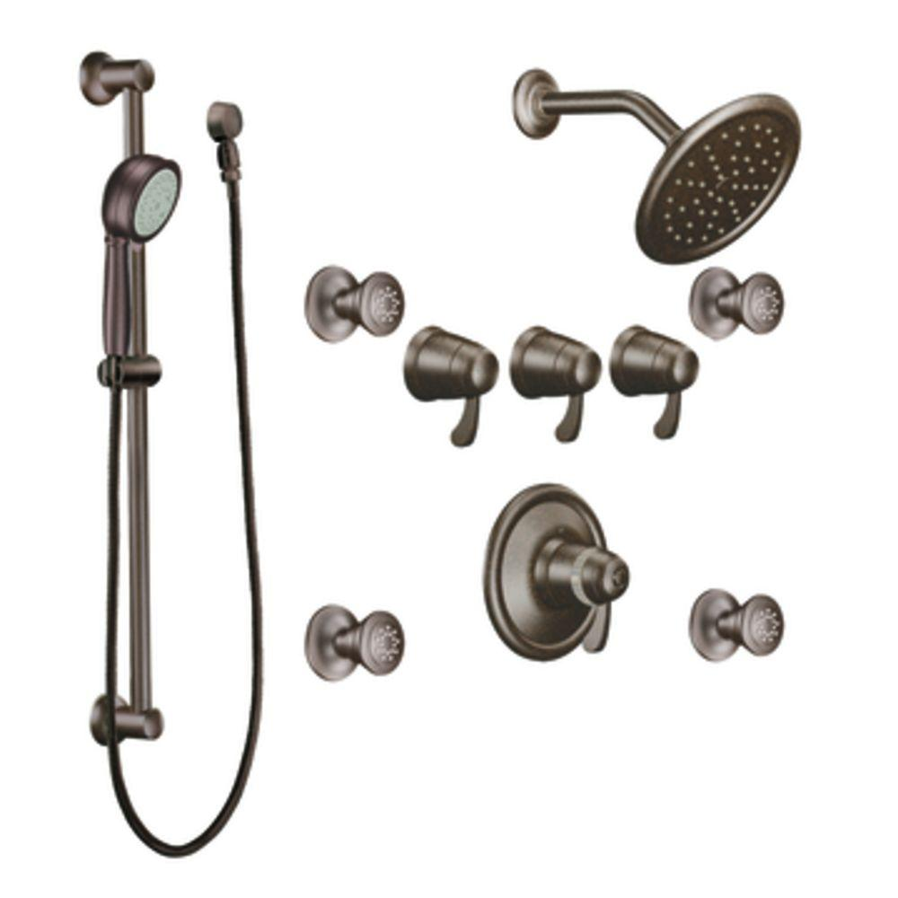 MOEN ExactTemp 3/4 in. Vertical Spa in Oil Rubbed Bronze (Valve not included)-DISCONTINUED