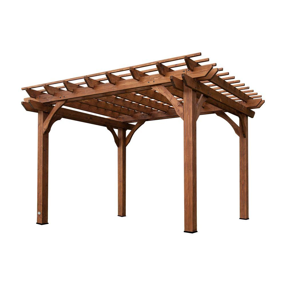 Cedar Pergola-6214com - The Home Depot - Backyard Discovery 10 Ft. X 12 Ft. Cedar Pergola-6214com - The Home