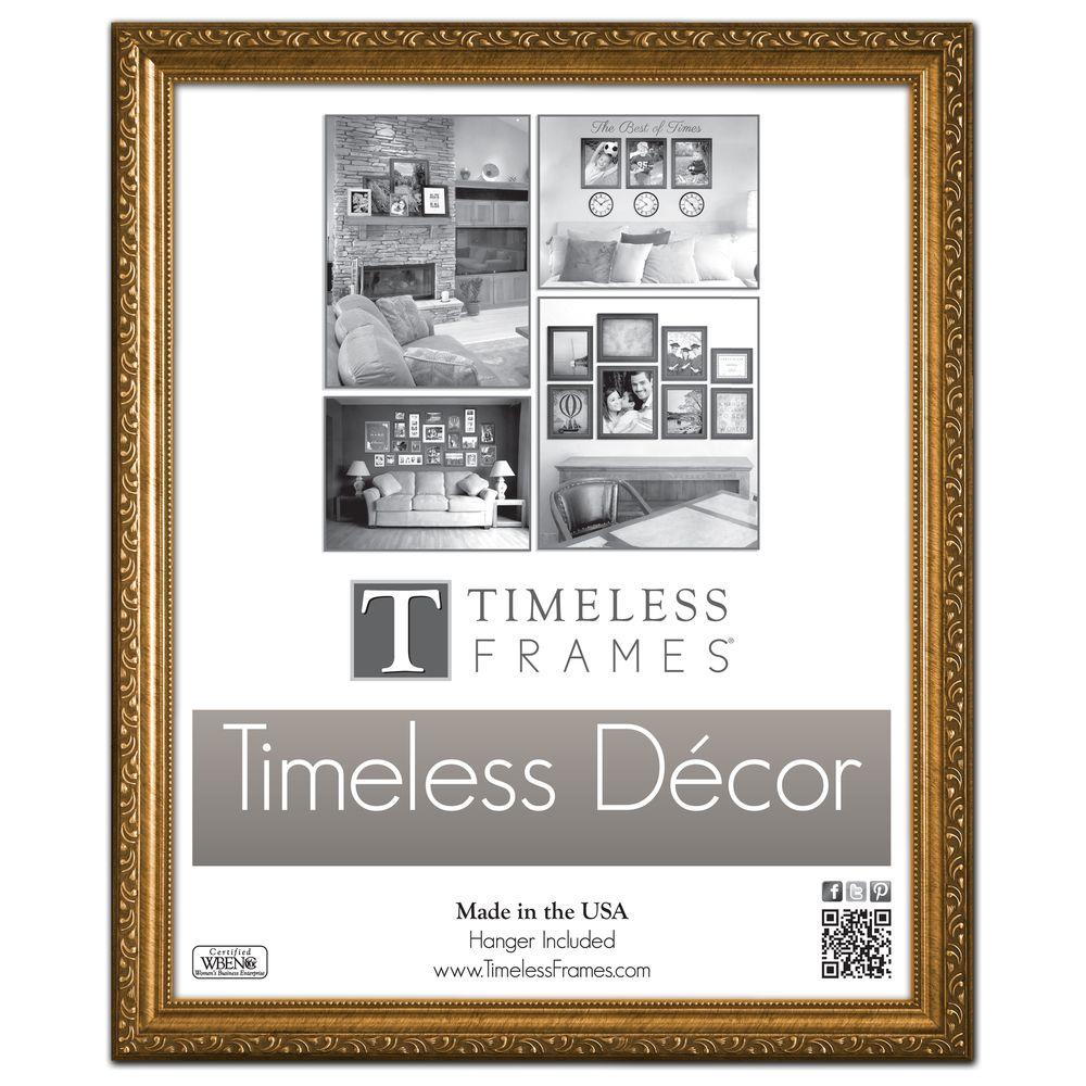 Timeless Frames Carrington 1 Opening 16 In X 20 In Gold Picture