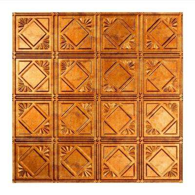 Traditional 4 - 2 ft. x 2 ft. Lay-in Ceiling Tile in Muted Gold