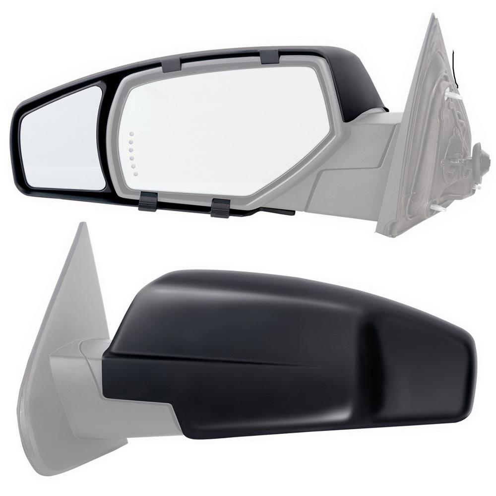 Snap Zap Clip On Towing Mirror Set For 2014 2018 Chevrolet Silverado Gmc Sierra 80910 The Home Depot
