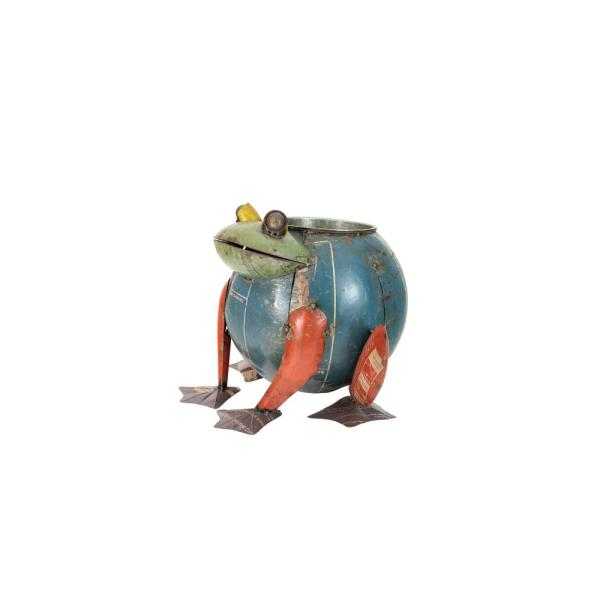 8 qt. Multi-Color Metal Recycled Frog Cooler