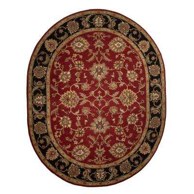 Ketchup 8 ft. x 10 ft. Oriental Oval Area Rug