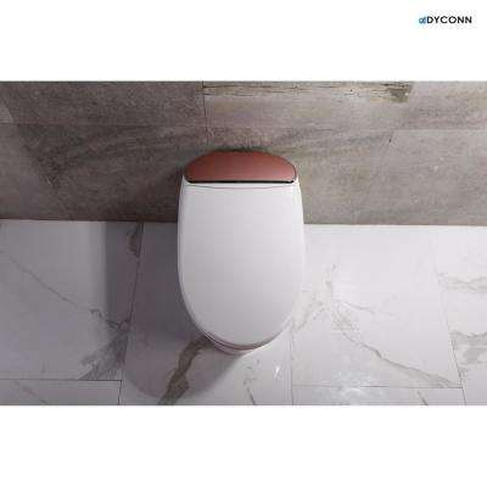 Aphrodite 1-Piece 1.18 GPF Single Flush Elongated Toilet and Bidet in Rose Gold Trim