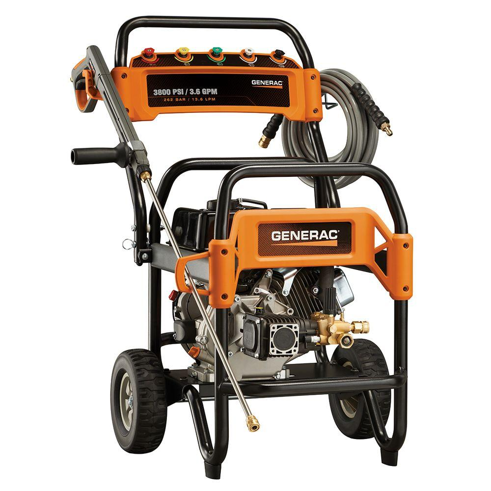 Generac 3 800 psi 3 6 gpm ohv engine triplex pump gas for Who makes generac motors