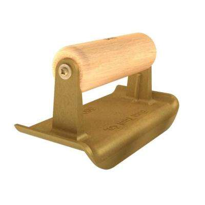 6 in. x 2-3/4 in. Bronze Hand Edger with Wood Handle
