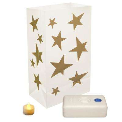 Gold Stars LED Luminaria Kit (Set of 12)