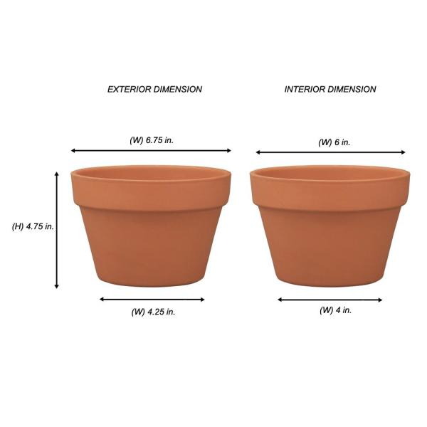 Pennington 6 75 In Terra Cotta Clay Azalea Pot 100043025 The Home Depot